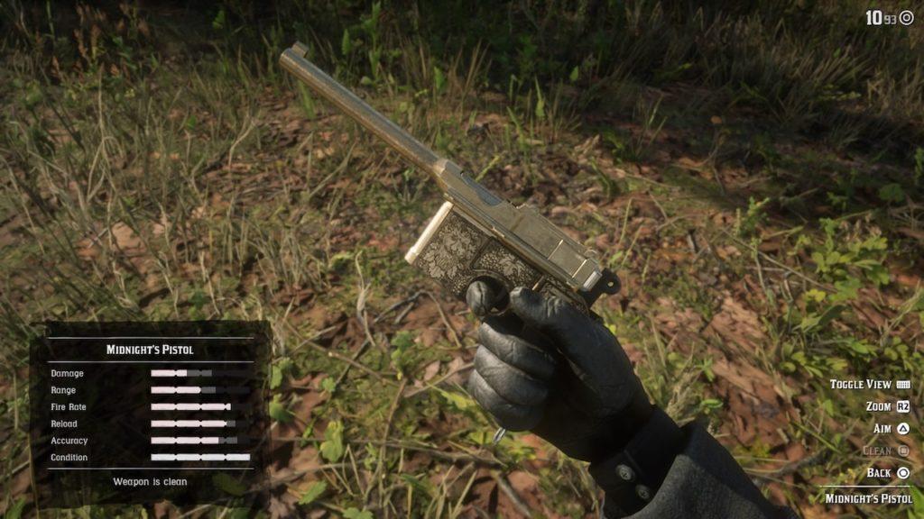 red dead redemption 2 midnight's pistol