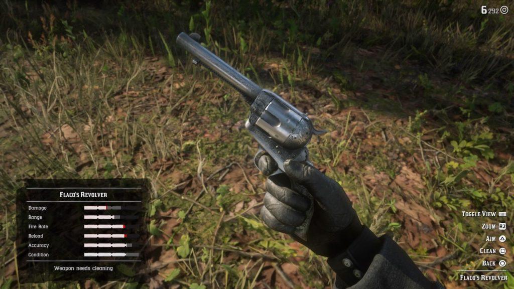 red dead redemption 2 flaco's revolver