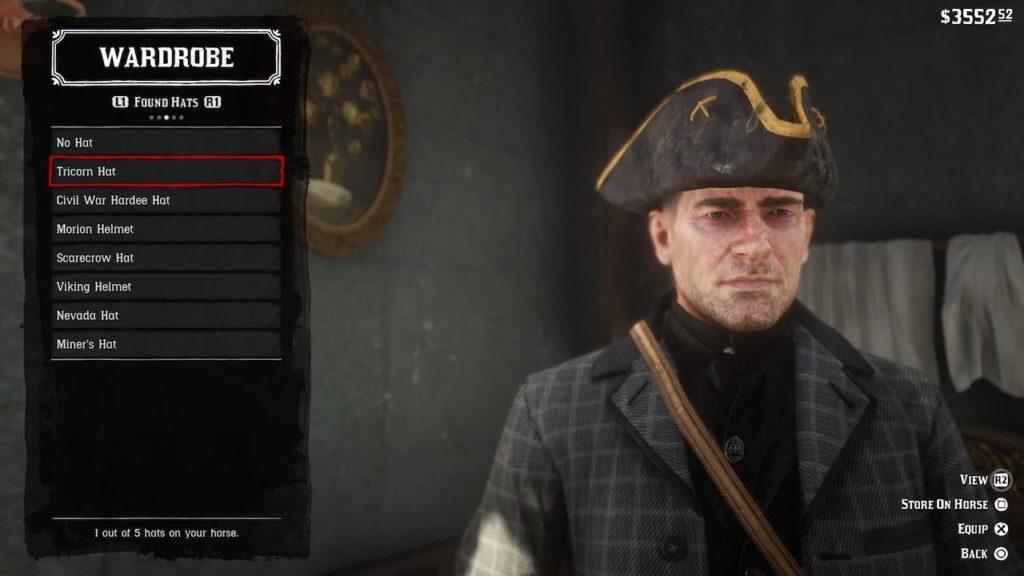 red dead redemption 2 tricorn hat
