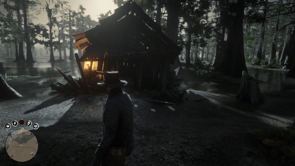red dead redemption 2 sinking hut