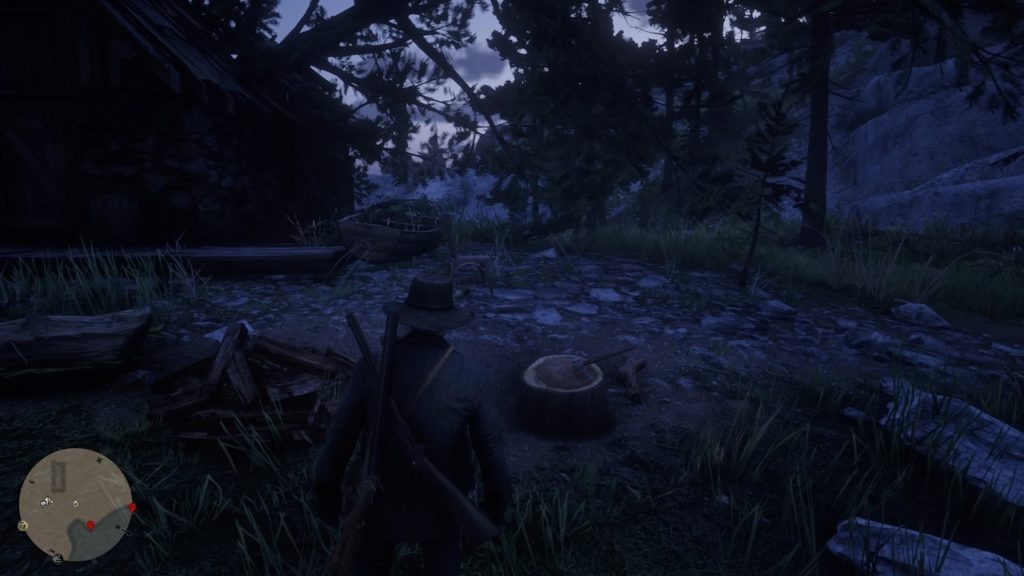 red dead redemption 2 destroyed cabin