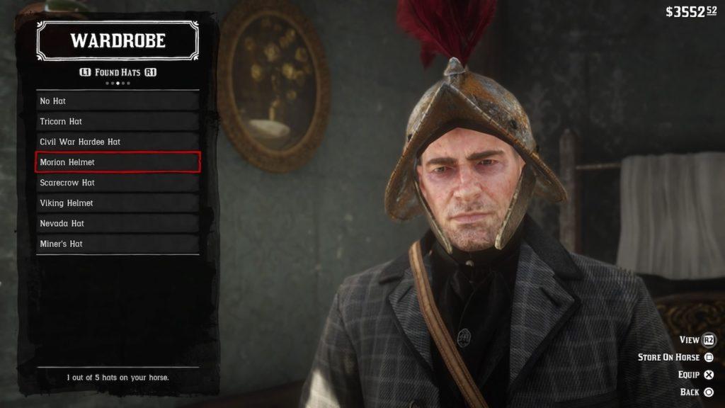 red dead redemption 2 morion helmet