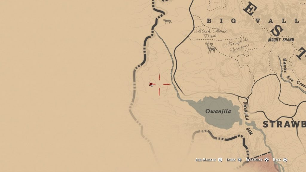 red dead redemption 2 pagan skull mask map