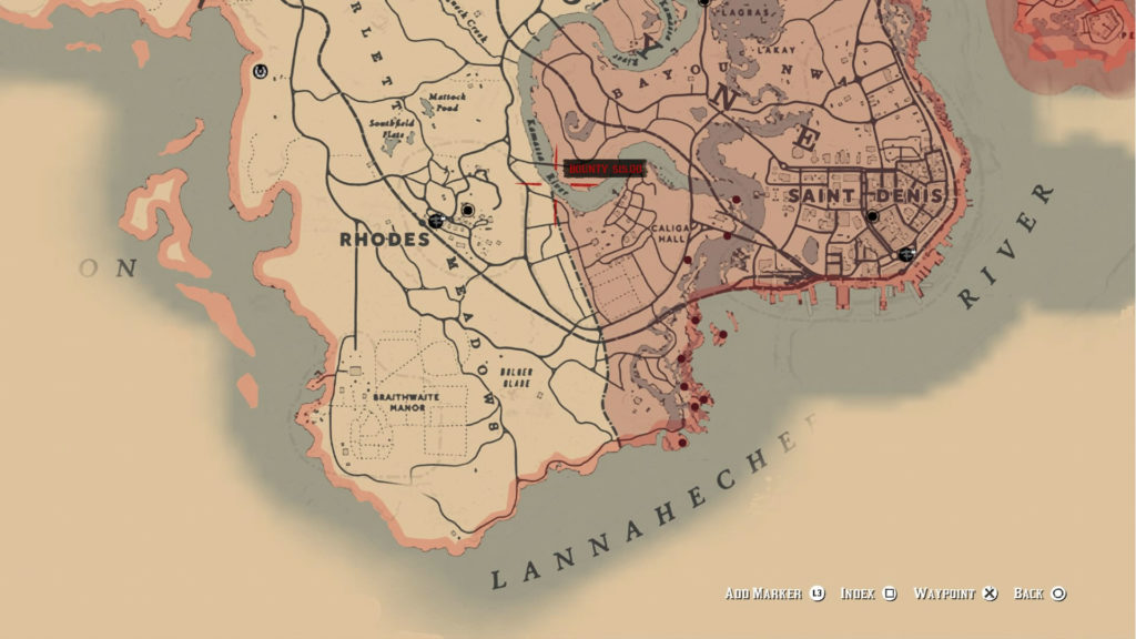red dead redemption 2 quest map 7