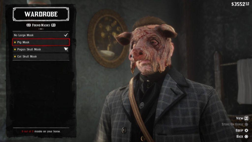 red dead redemption 2 pig mask
