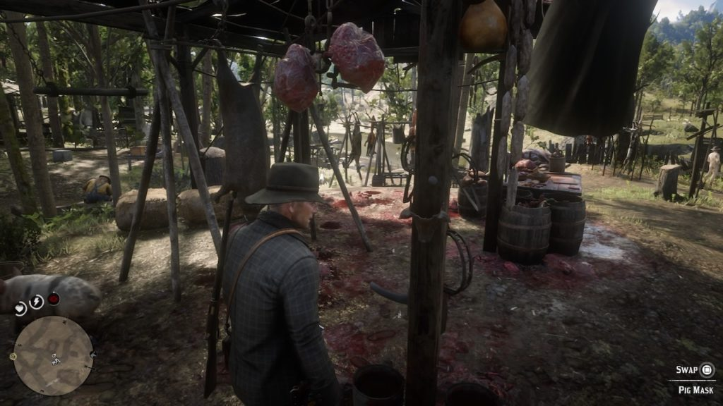 red dead redemption 2 butcher stall