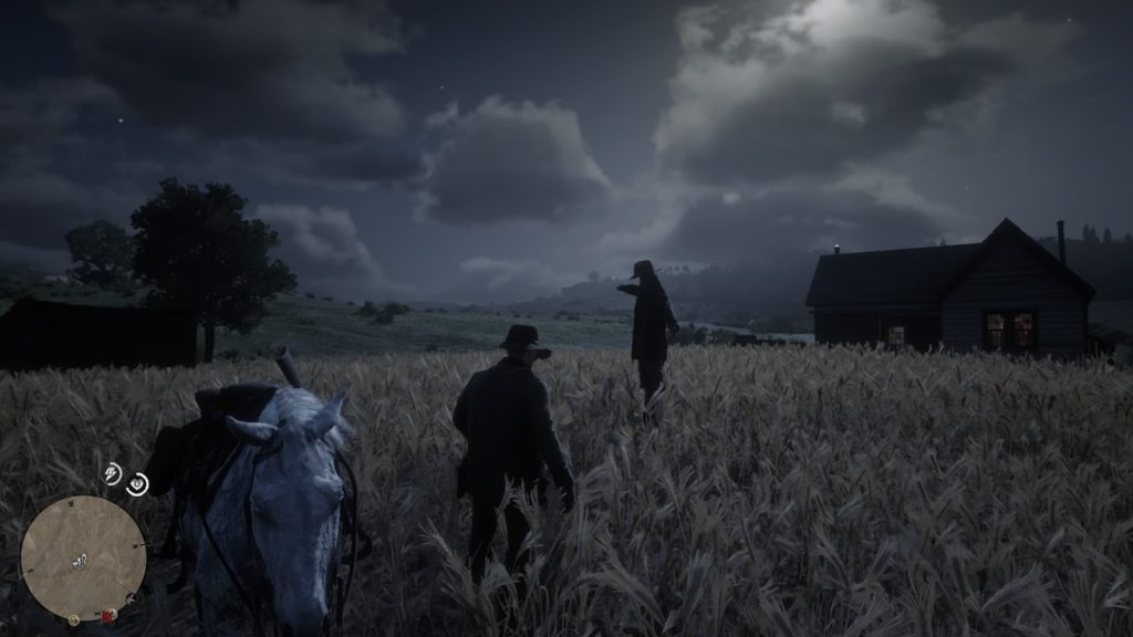 red dead redemption 2 scarecrow field