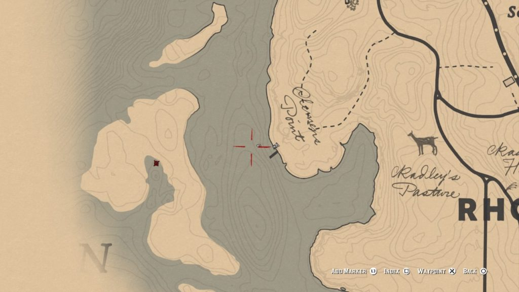 red dead redemption 2 tricorn hat map