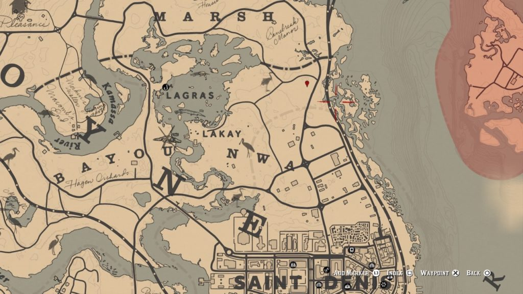 red dead redemption 2 saint denis grave map