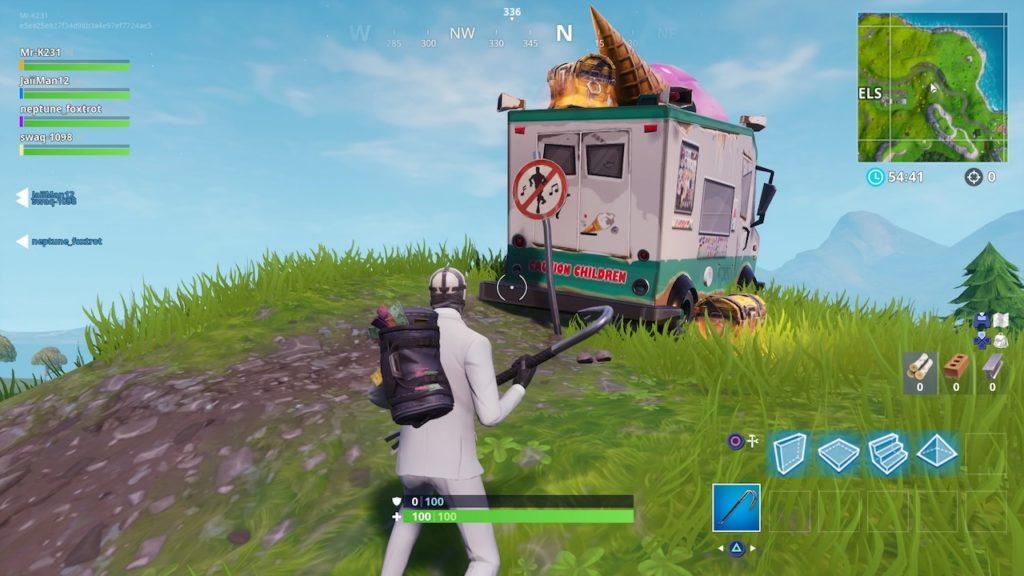 fortnite ice cream truck