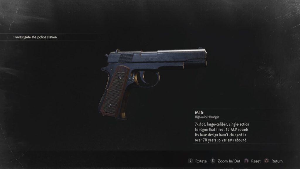 resident evil 2 m19 handgun