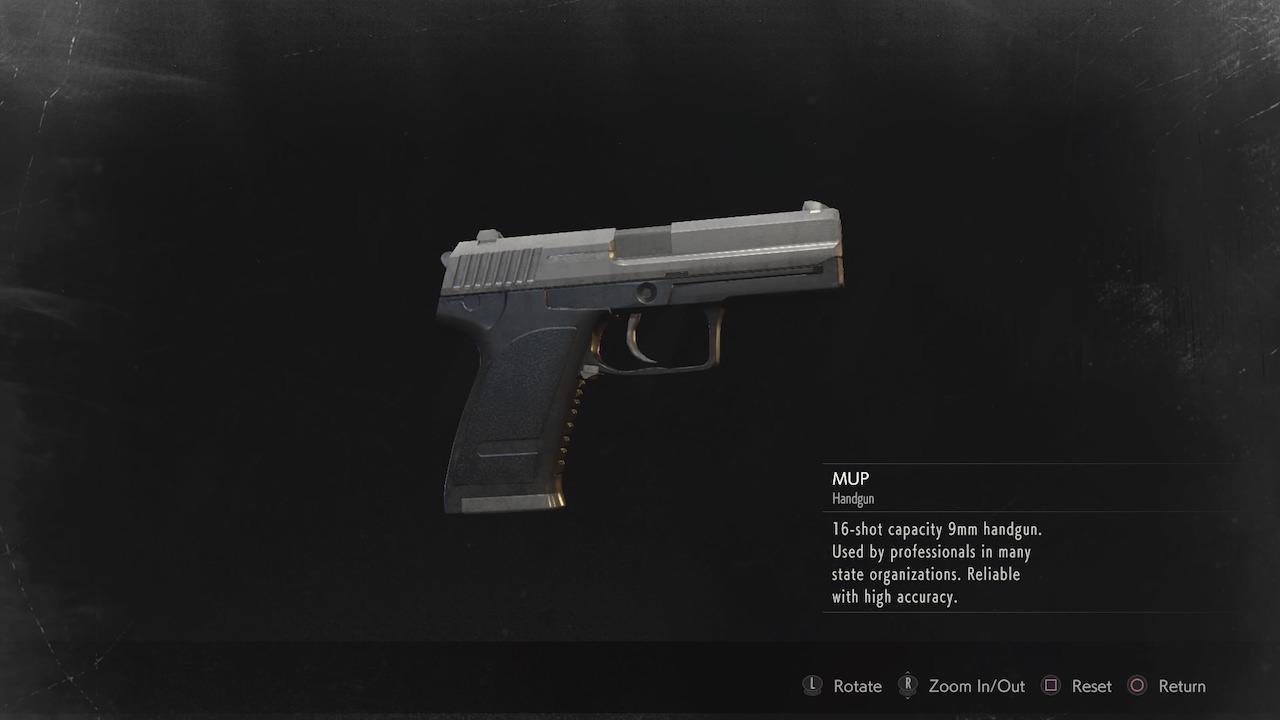 resident evil 2 MUP handgun