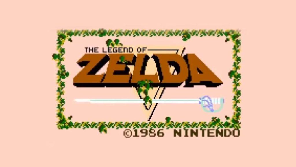 Zelda start screen