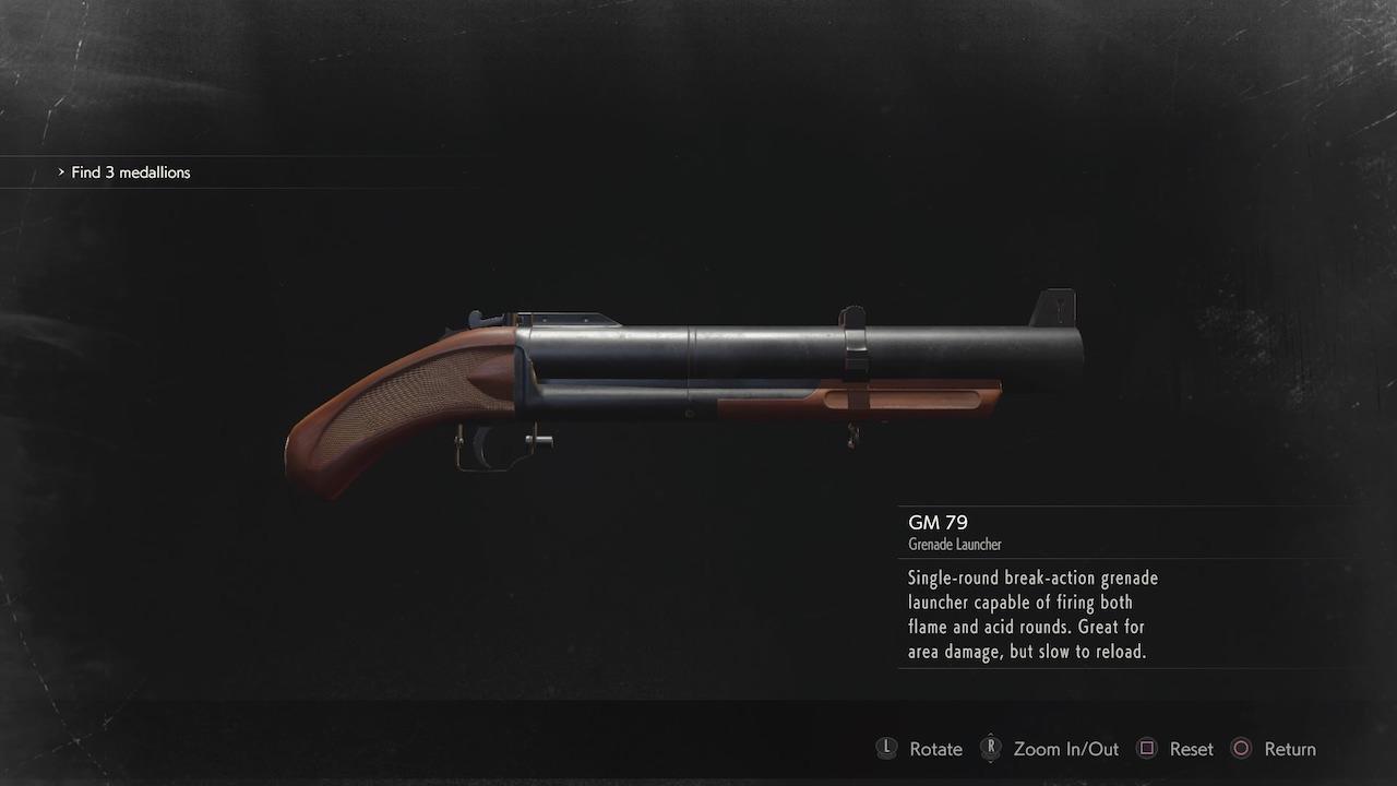 resident evil 2 gm-79 grenade launcher