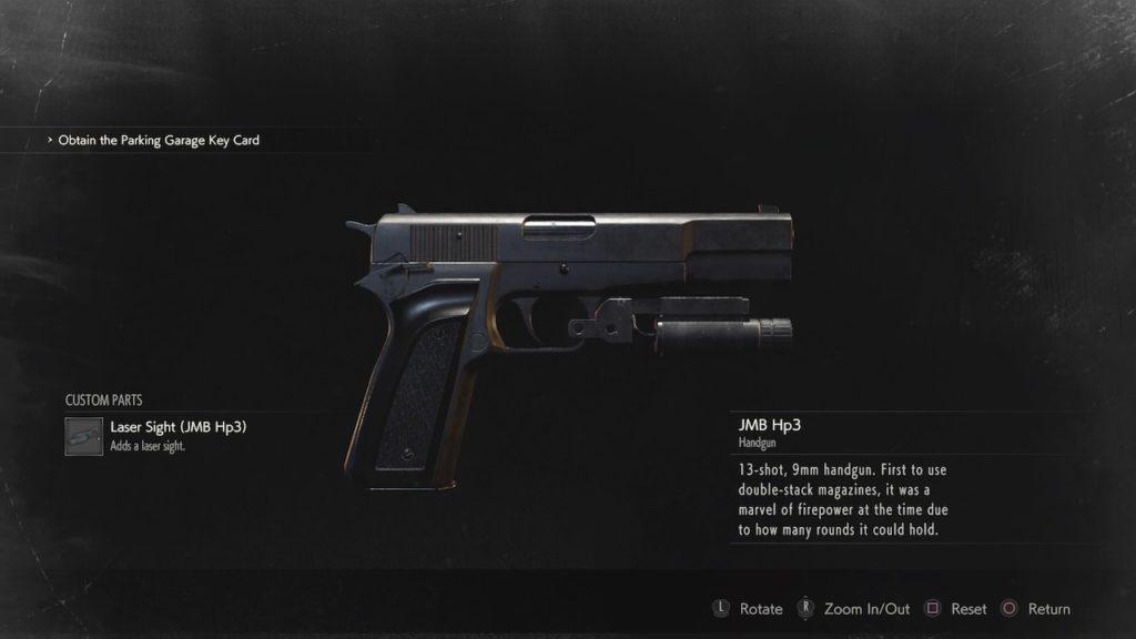 resident evil 2 jmb hp3 handgun