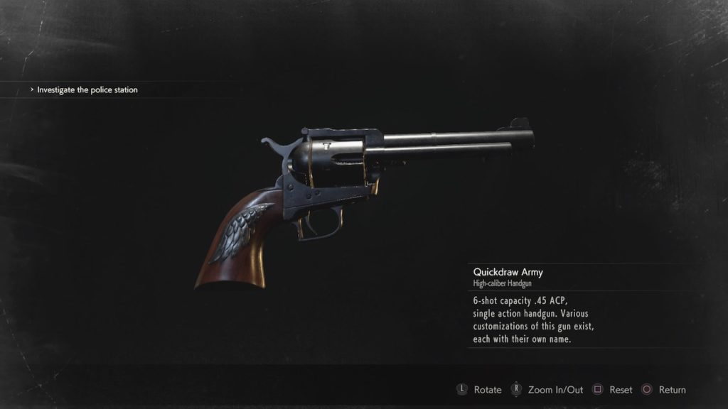 resident evil 2 quickdraw army revolver