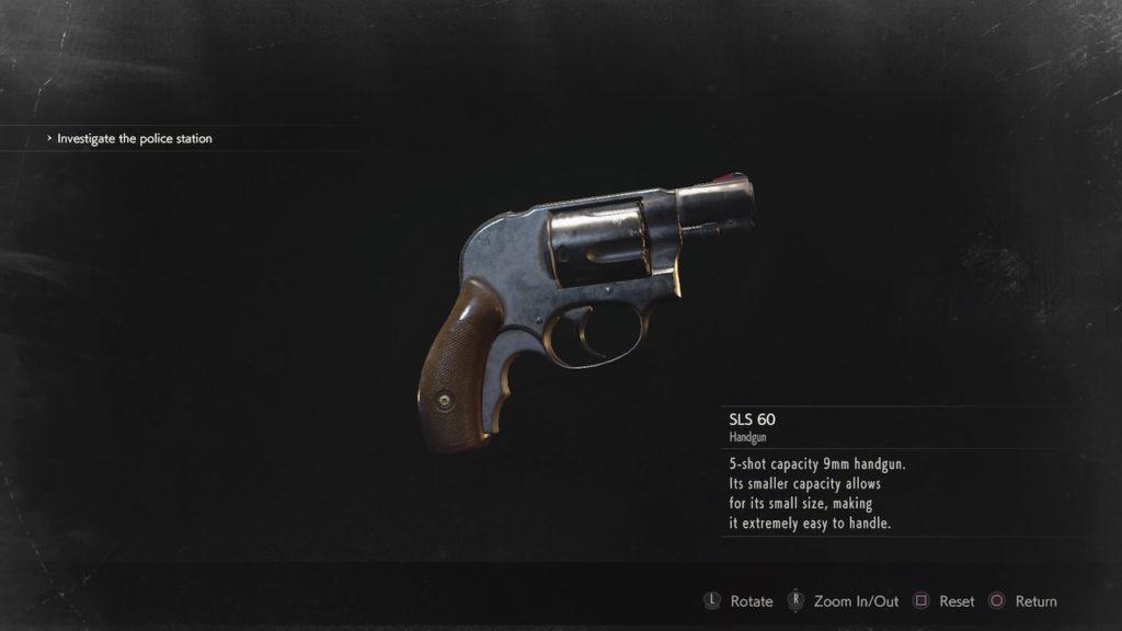 resident evil 2 sls 60 revolver