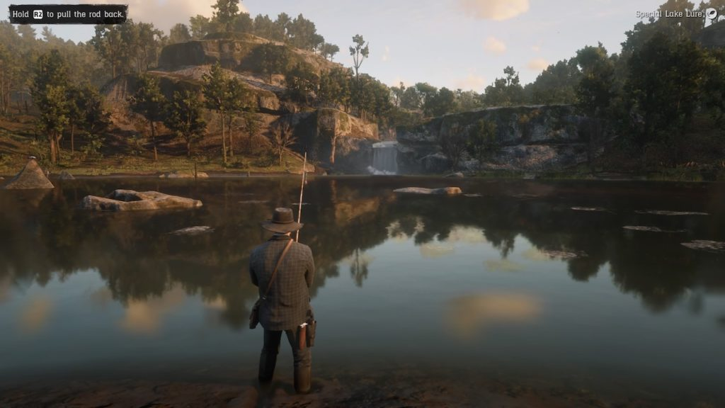 red dead redemption 2 fishing guide lake