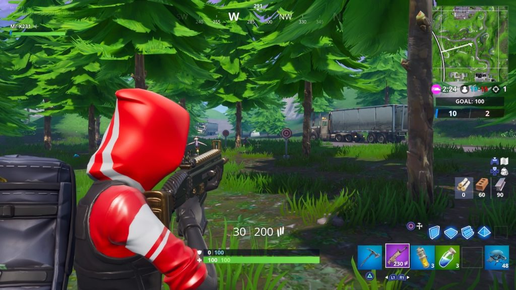 fortnite season 7 week 10 challenge guide shooting gallery