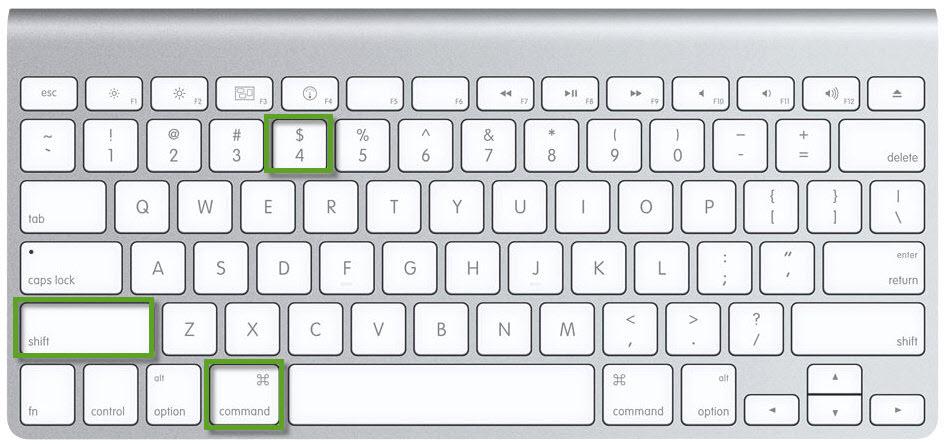Cattura solo una parte dello schermo del Mac