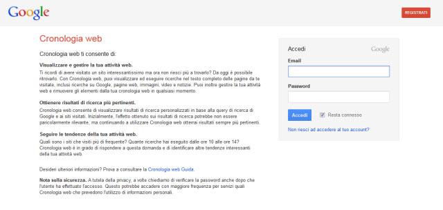 Come cancellare la cronologia delle ricerche di Google