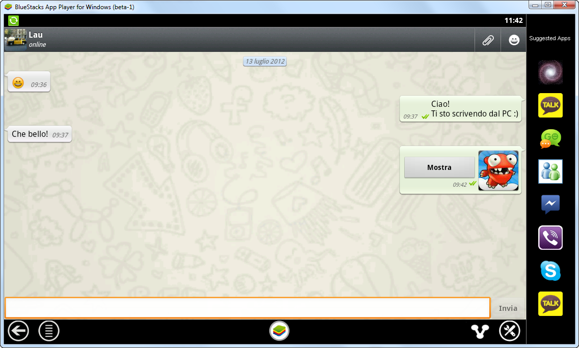 chat whatsapp dal PC