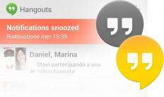 Posso impostare lo status Invisibile su Google Hangouts?