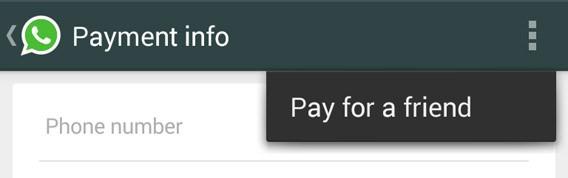 WhatsApp - Payer pour un ami