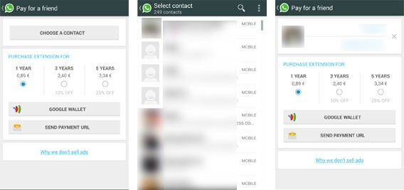 WhatsApp - Offrir l'abonnement à un ami