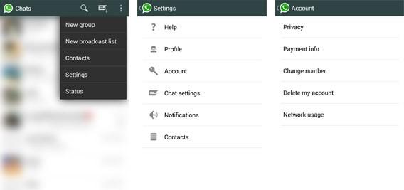 Paramètres de WhatsApp