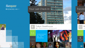 Foursquare arriva su Windows 8