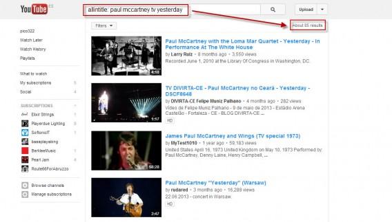 Affiner la recherche dans YouTube