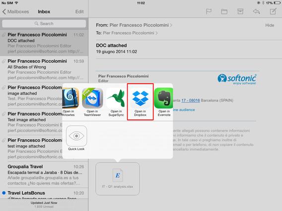 Mail - Apri con Dropbox