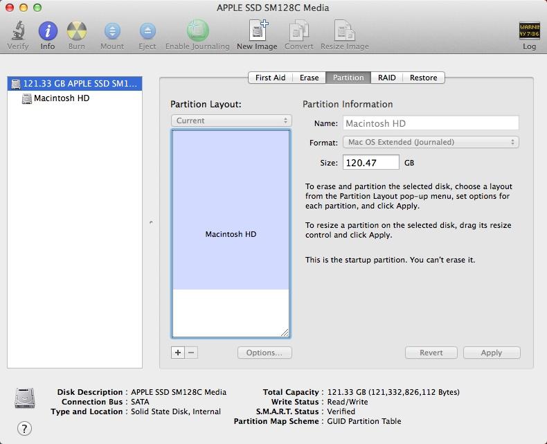 Как сделать загрузочный том mac os x