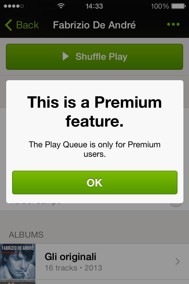 spotify gratuit pour iphone