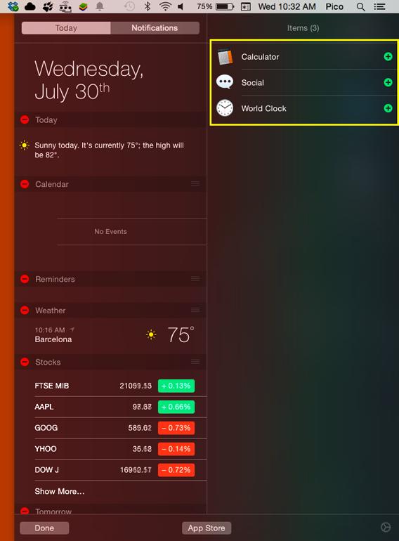 Ajouter des widgets au centre de notifications