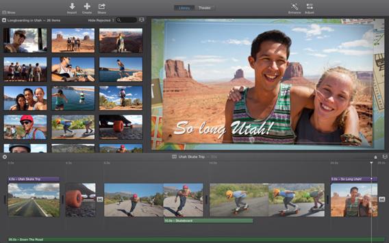 Interface d'iMovie