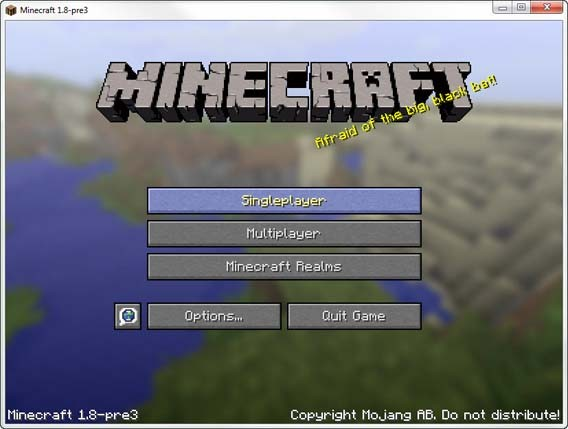 Minecraft - Start Screen