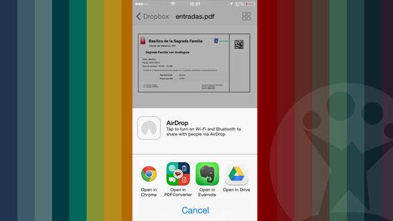 Apri con in iOS 7