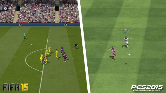 FIFA vs PES - Inteligência artificial e estilo de jogo