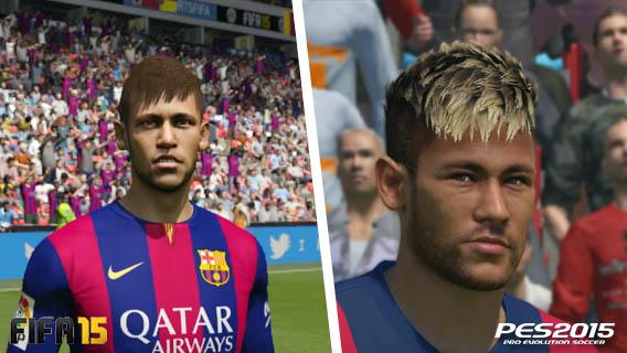 FIFA vs PES - aparência dos jogadores