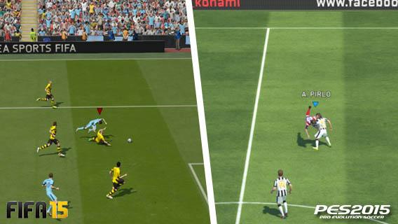 FIFA vs PES - comparação física