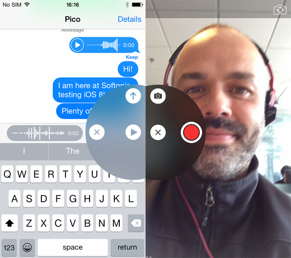 Messages - vocal messages and video messages