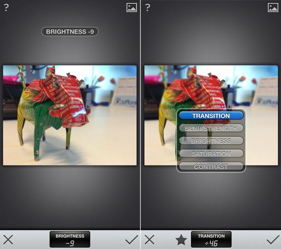 Due strumenti di Snapseed