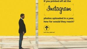 Da una foto al cielo. Che succede se stampi tutte le foto di Instagram?
