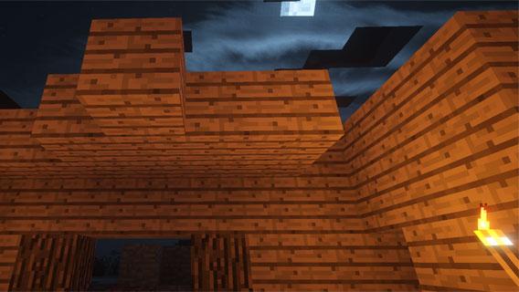Minecraft: le sol, les murs, puis le plafond