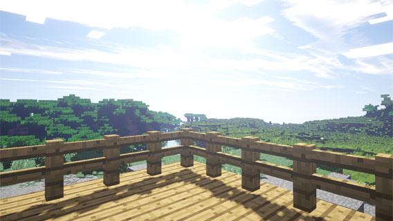 Minecraft: la vue de la terrasse, impressionnante!