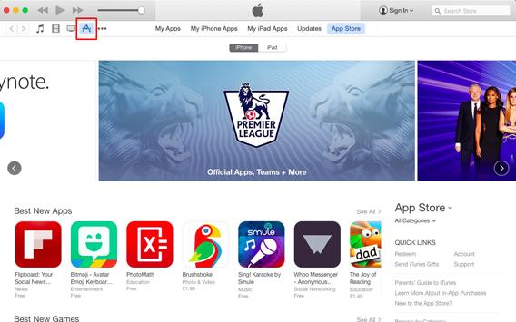 Schiaccia il bottone App