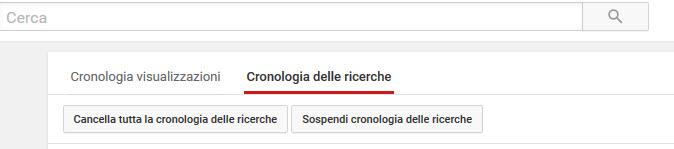 Cronologia ricerche Youtube