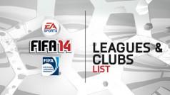 EA kondigt alle divisies en clubs van FIFA 14 aan